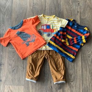 4/$20 Boys Bundle Tea Collection Janie & Jack NWT